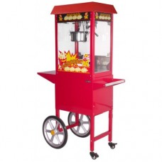 SUMTASA Popcorn machine With Cart ET-POP6A-R-C : 6-8 oz
