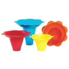 Flower snow cone drip trays