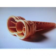 Ice cream wafer cone TWIN 1x210p D45mm X L132mm